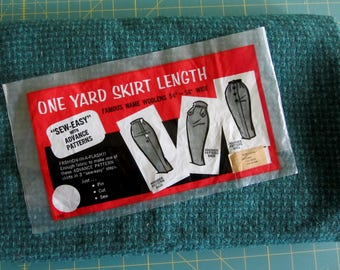 WOOLEN FABRIC for One Yard Skirts Vintage 1950s Pencil Skirts