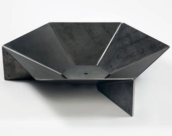 "Modern Steel Origami Fire Pit 36"" FREE SHIPPING"
