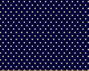 Windham Freedom Bound Star Navy Blue Cream Vintage Patriotic American Civil War 41978-1 Fabric BTY