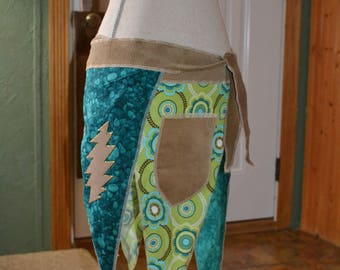 Festival wrap pixie skirt with 13 point bolts