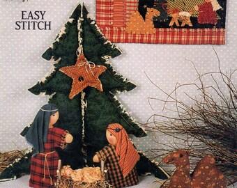 A Star is Born fabric sculpted nativit scene and nativity scene mini quilt paper pattern