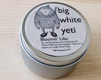Bloomin' Lilac Soy Candle- 6 Ounce Tin