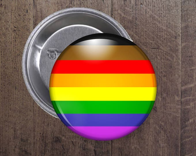 New LGBT Pride flag button