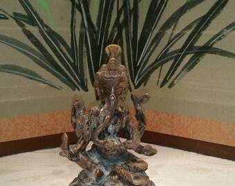 Ganesha statue, brass Ganesh