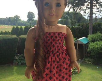 American Girl strapless dress