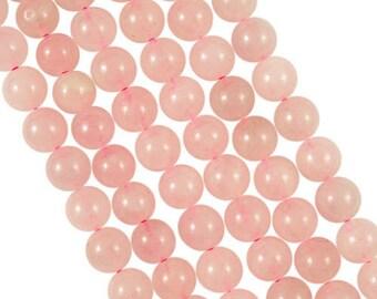 10 x 6mm Rose Quartz round beads