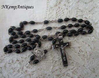 Vintage wooden rosary