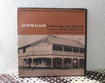 Aussie Folksongs and Ballads Vinyl Record 1959