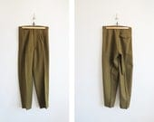 Wool Army Trousers // 1970's 31 Inch Waist Military Pants // Unisex Vintage Clothing