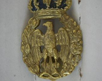 Royal Air Force hat badge, Italy, WW2,Milano