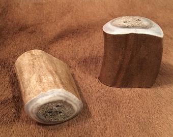 Caribou Antler Salt & Pepper Shakers