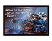POSTER - MVP, Zebra Spots - Scott Sigler's Galactic Football League - Series 1  (Unframed Poster)