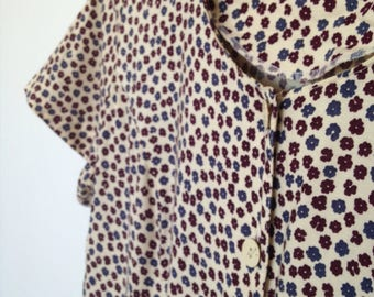vintage 90's sun dress with mini daisy flower print - med - Large size