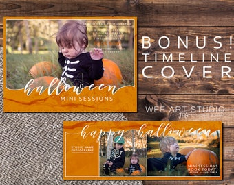 Halloween Mini/Photo Session Template for Photographers / Facebook Cover