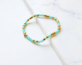 Bead Bracelet, Beaded Bracelet, Stretch Bracelet, Bead Bracelet Womens, Summer Trends, Summer Jewelry, Beaded