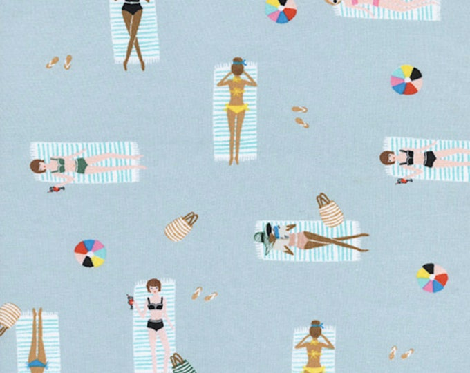 PRESALE: Sun Girls - Sky in Cotton Rayon Lawn by Rifle Paper Co. for Cotton + Steel