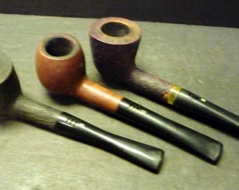 3 Pipes - two are EA Carey Magic Inch, Italy and one unmarked