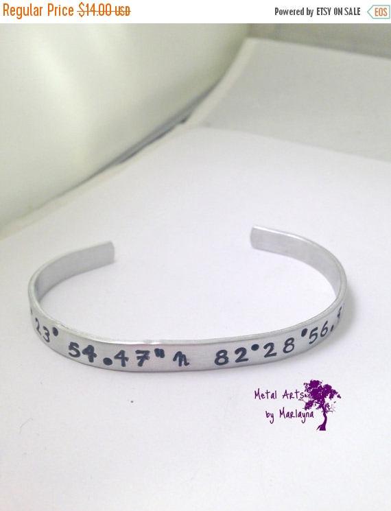longitude and latitude sted bracelet location cuff