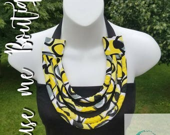 Layers Necklace (Black and Yellow)