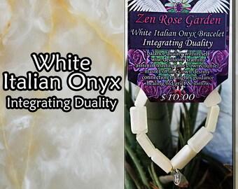 White Onyx Bracelet, White, Onyx, Gemstone, Bracelet
