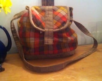 Hand made vintage textile shoulder bag