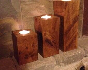 Wood Tea light set