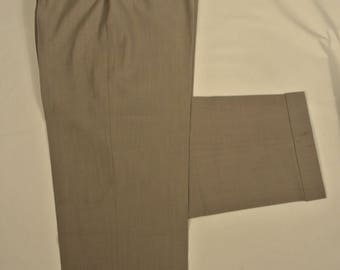 Zanella Light Gray 100% Wool Dress Pleat Trousers Men's Size: 35x32