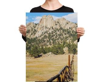 Canvas - Red Silo Original Art - Granite Mountain Fence Line