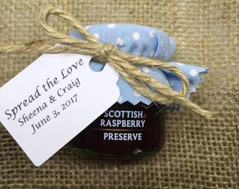 Raspberry Jam Wedding Favours, Marmalade wedding Favour, Jams & Preserves, Mini Jams, Summer Wedding Favours, Celebration Jams