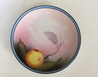 Vintage, Hand Painted plate, with fruit and leaf design, 1920s, Noritake, Morimura Backstamp, Made in Japan,