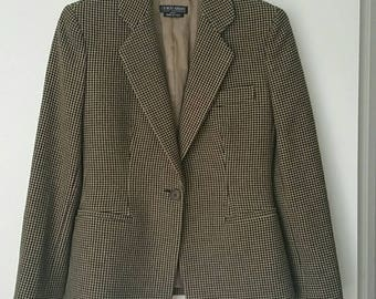 VTG Giorgio Armani Wool Fitted Womens Jacket M