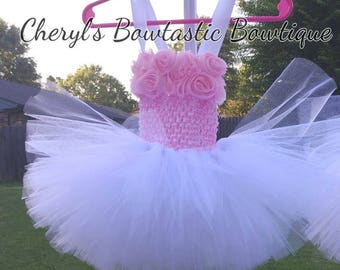 Flower tutu Dress, Tutu flower dress, Flower skirts, Tutu dress, Infant tutus, Child tutu dress, Pink Dress, Pink Tutu dress. Made to Order!