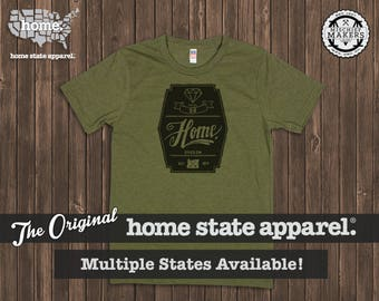Home State Apparel - Diamond Home T-Shirt: Army Green