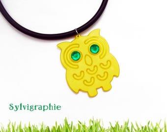 Yellow OWL pendant