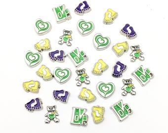 SALE! 30 floating charm for memory locket! # MIN CH 063