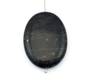1 snowflake obsidian stone bead / 30mm x 40mm  #PP 129