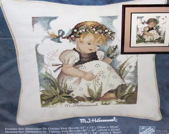 JCA Needle Treasures Hummel Pillow cover Lily of the Valley kit 04607 counted cross stitch New