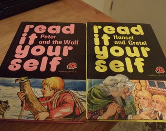 Read it yourself Ladybird books, Hansel and Gretal, Peter and the wolf , vintage