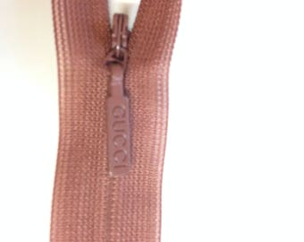 Authentic Gucci zipper dubble sides logo , brown