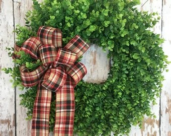 Eucalyptus Wreath, Year Round Wreath, All Season Wreath, Everyday Front Door Wreath, Door Wreaths, Country Farmhouse Wreath, Window Wreath