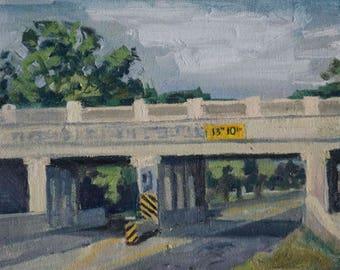 """Railroad Bridge Painting 8""""x10"""" Digital Print"""