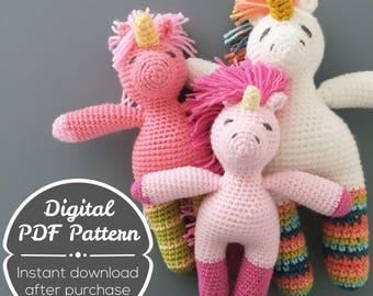 CROCHET PATTERN: Unicorn Toy Pattern, Horse Toy Pattern, Amigurumi Unicorn, Amigurumi Horse, Mystical Toy Pattern, Knit Unicorn Toy Pattern