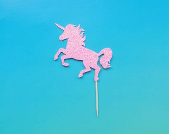 Unicorn cupcake toppers -set of 12-glitter-birthday-wedding-baby shower-bridal shower-bachelorette-engagement-party-summer