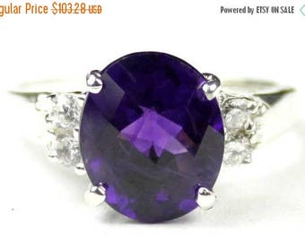 On Sale, 20% Off, Amethyst, 925 Sterling Silver Ring, SR123