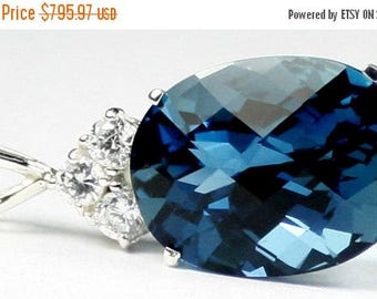 On Sale, 30% Off, London Blue Topaz, 925 Sterling Silver Pendant, SP016