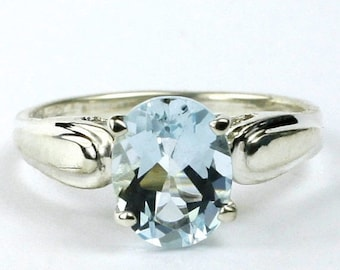 On Sale, 30% Off, Aquamarine, 925 Sterling Silver Ring, SR058