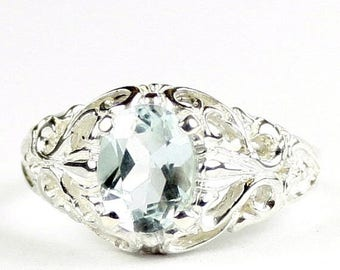 On Sale, 30% Off, Aquamarine, 925 Sterling Silver Ring, SR113