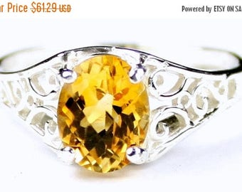 On Sale, 30% Off, Citrine, 925 Sterling Silver Ring, SR305