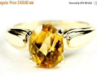 On Sale, 30% Off, Citrine, 14KY Gold Ring, R058