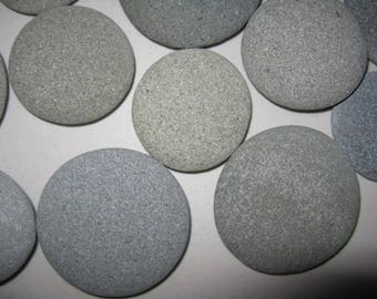 "6 Round Stones 4.5""-5"" Painting Stones, Large, Flat, Smooth, Beach Rocks, Wishing Stones, Wedding Decor,Unique"